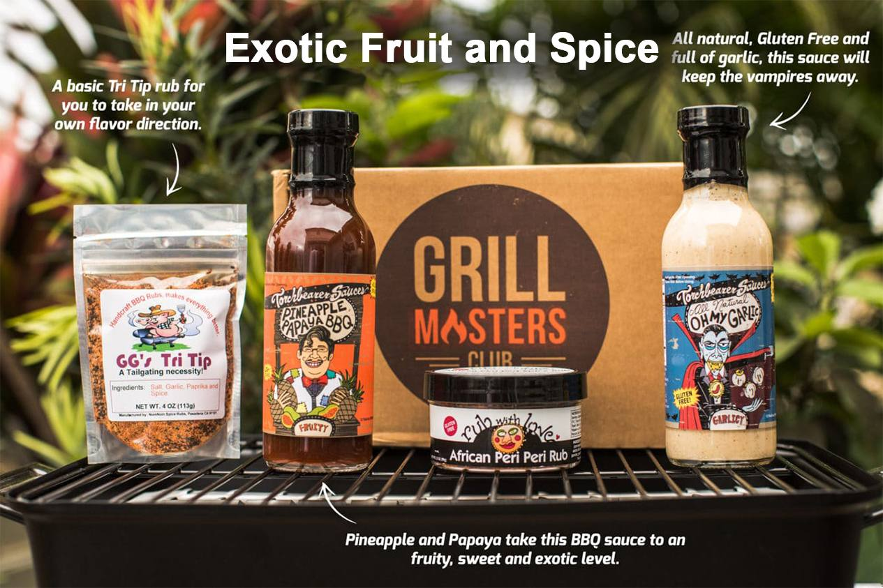 Exotic Fruit and Spice Grill Masters Club Box
