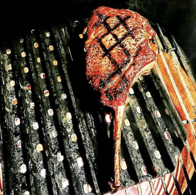 Nothing like a bone in ribeye to brighten up this hump day! Thanks for the eye candy,